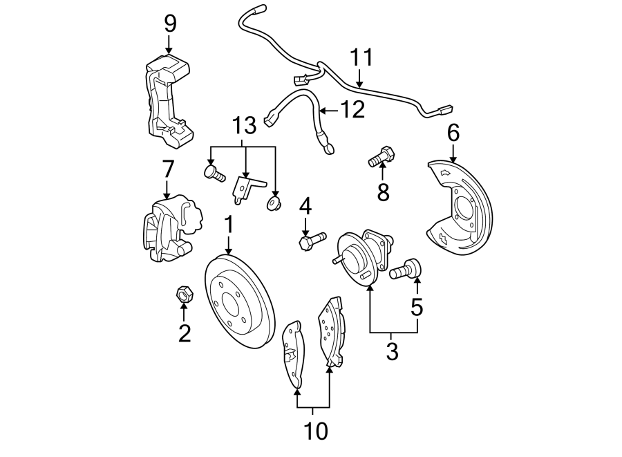 Buick Lesabre Harness  Sensor  Abs  Wire  Rear