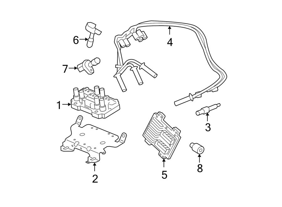 Buick Lucerne Spark Plug Wire Set  3 9 Liter