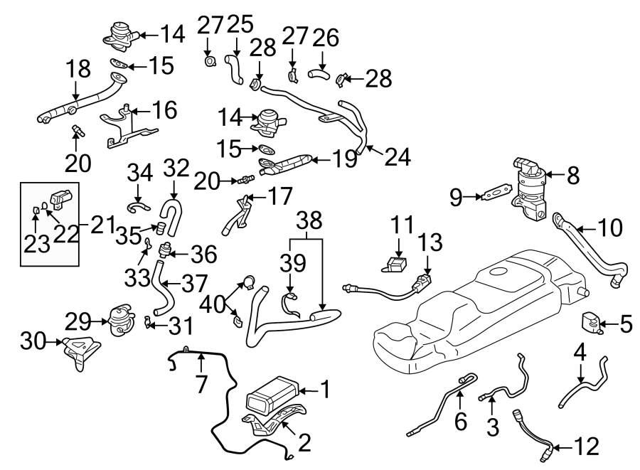 Oldsmobile Alero Secondary Air Injection Pump Check Valve
