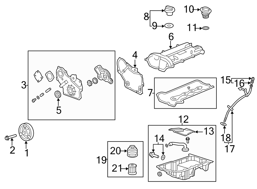 2011 buick lacrosse engine oil pan 12601240 gm parts. Black Bedroom Furniture Sets. Home Design Ideas