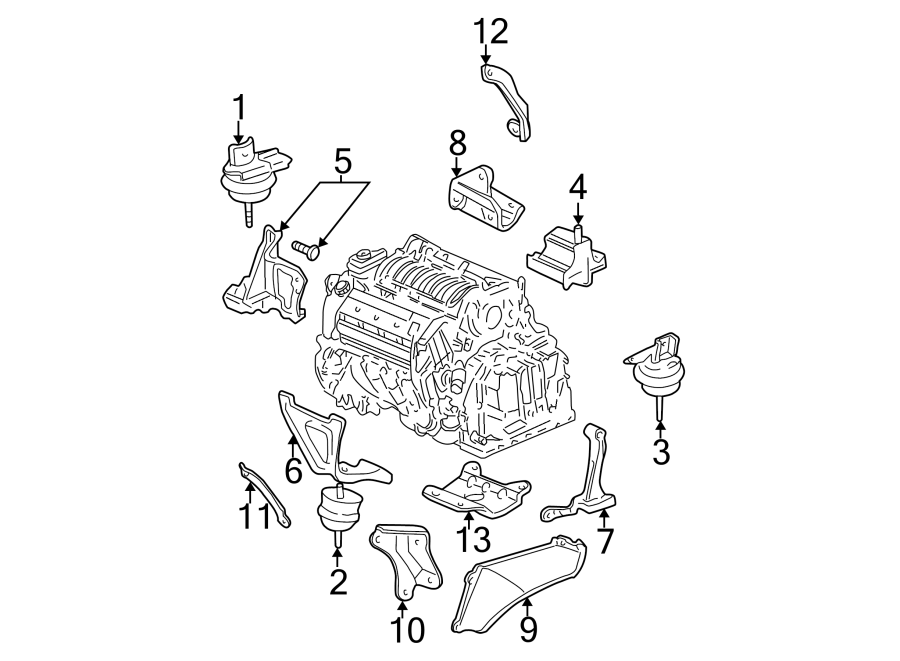 Cadillac Deville Engine Mount  Lower  Bearings