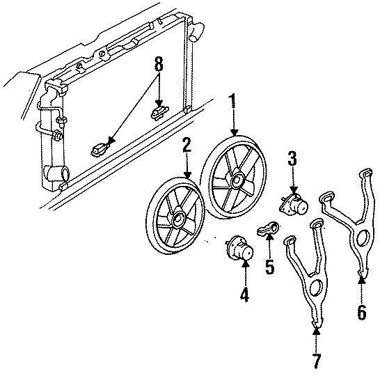 Cadillac Deville Engine Cooling Fan Motor  Left  Liter