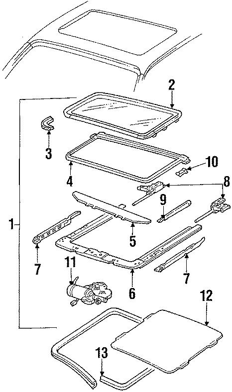 12395469 general motors module slide panel sunroof. Black Bedroom Furniture Sets. Home Design Ideas