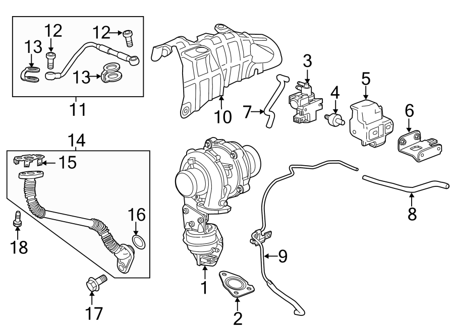 Chevrolet Cruze Vacuum Line  2 0 Liter Turbo Diesel   3