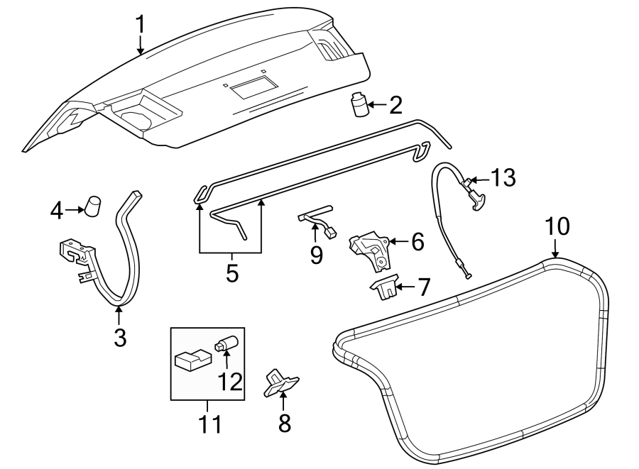 96886814 - general motors harness assembly  cmpt lid wiring  spoiler  rear  camera