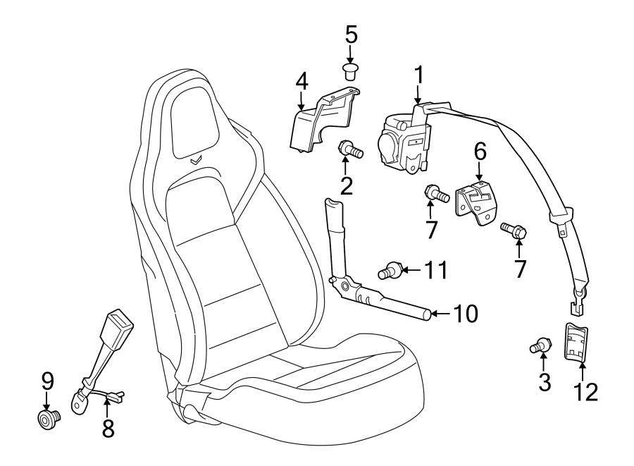 Chevrolet Corvette Seat Belt Receptacle Bolt  Convertible