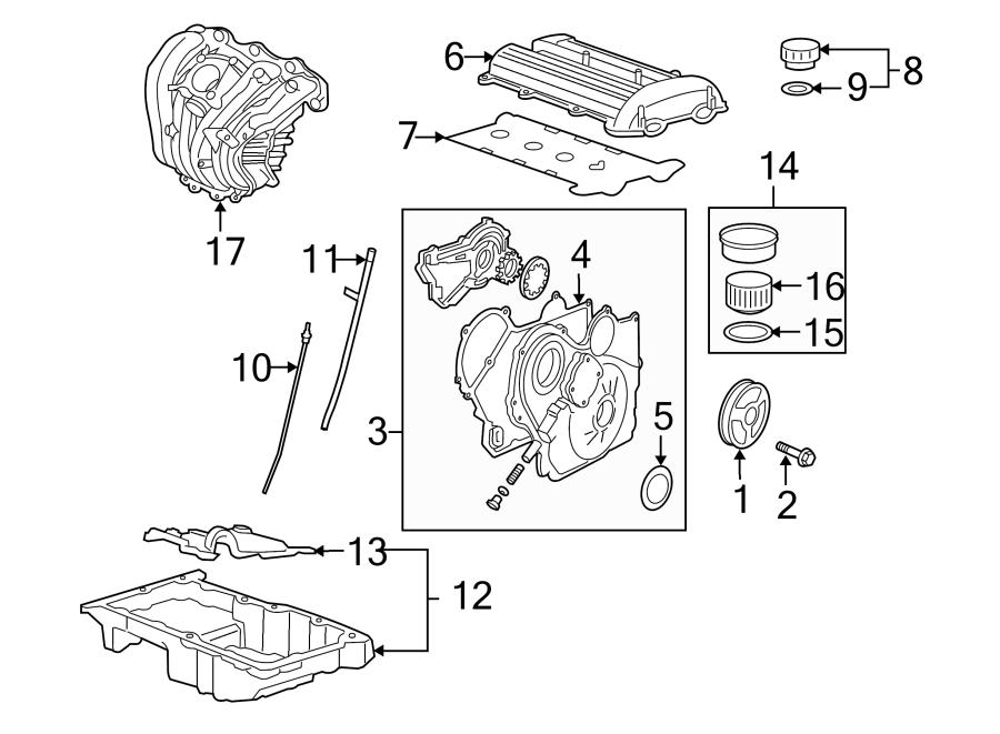 Chevrolet Cobalt Engine Valve Cover  Liter  Sedan