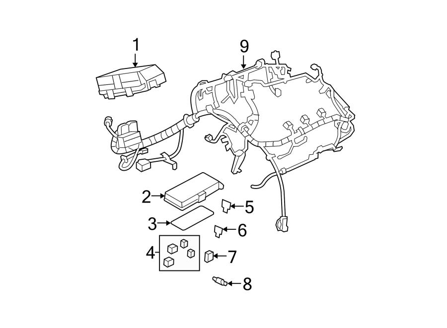 Chevrolet Malibu Engine Wiring Harness  2 4 Liter  Under