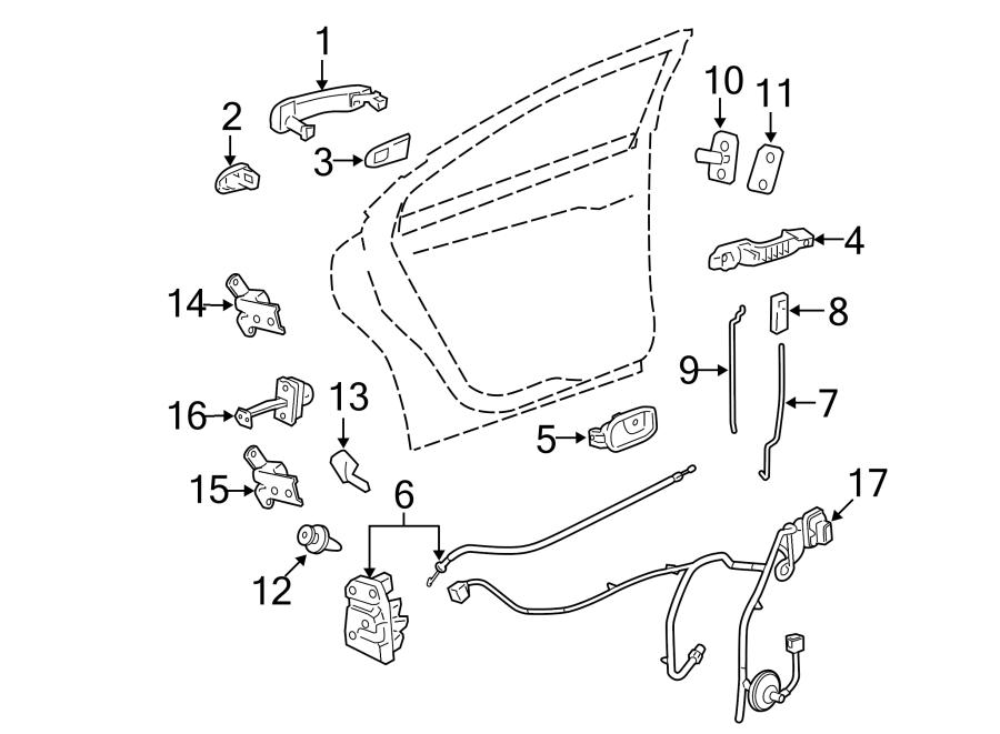 2008 Chevrolet Malibu Lock  Latch  Actuator   Rear