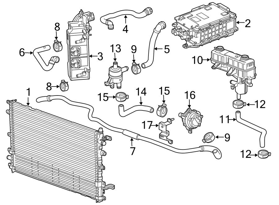 2014 Chevrolet Sonic Connector Hose  Drive Motor Inverter