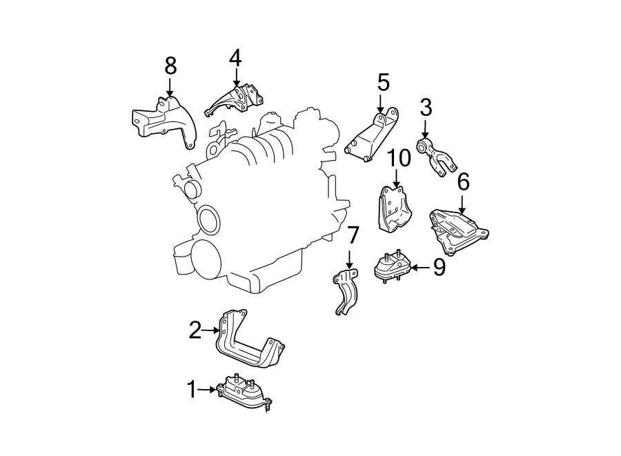 Pontiac Grand Prix Bracket  Engine  Mount   Upper
