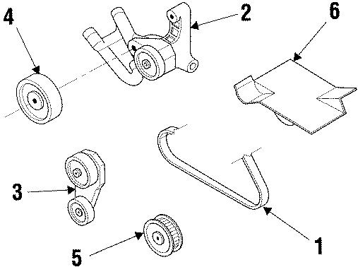 1999 Buick Regal Accessory Drive Belt  Supercharger  Pulleys  Belts