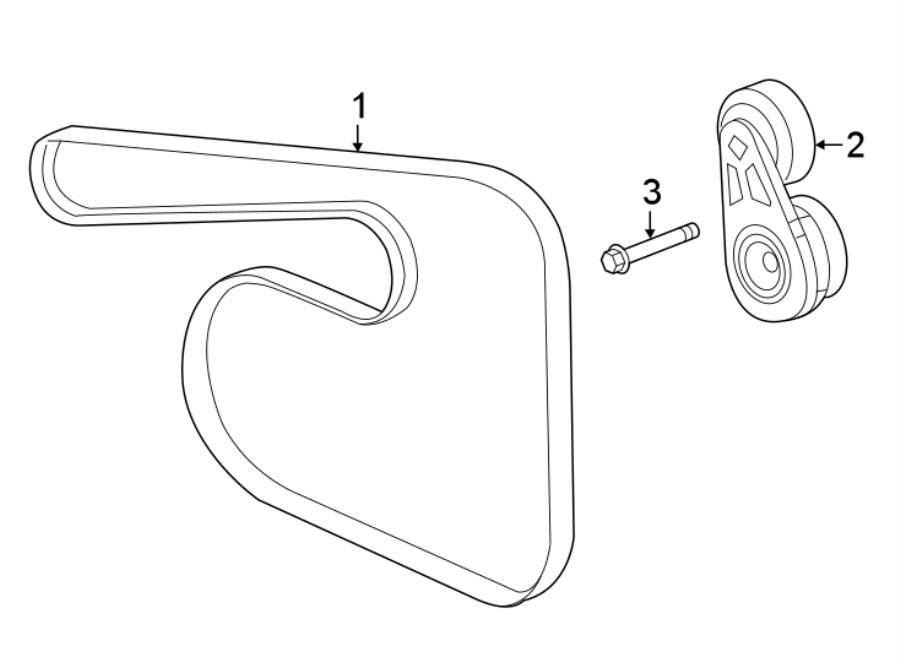 Gmc Terrain Serpentine Belt  Liter  Drive  Belts