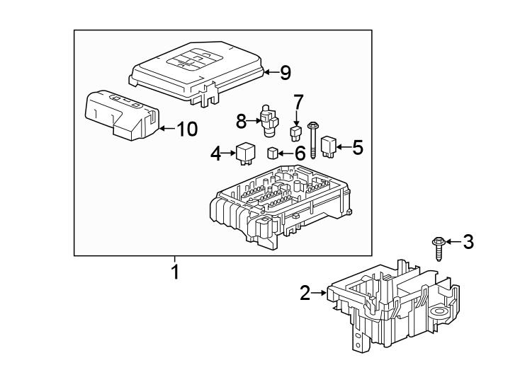 Gmc Terrain Accessory Power Relay  Diesel Glow Plug Relay  Starter Relay