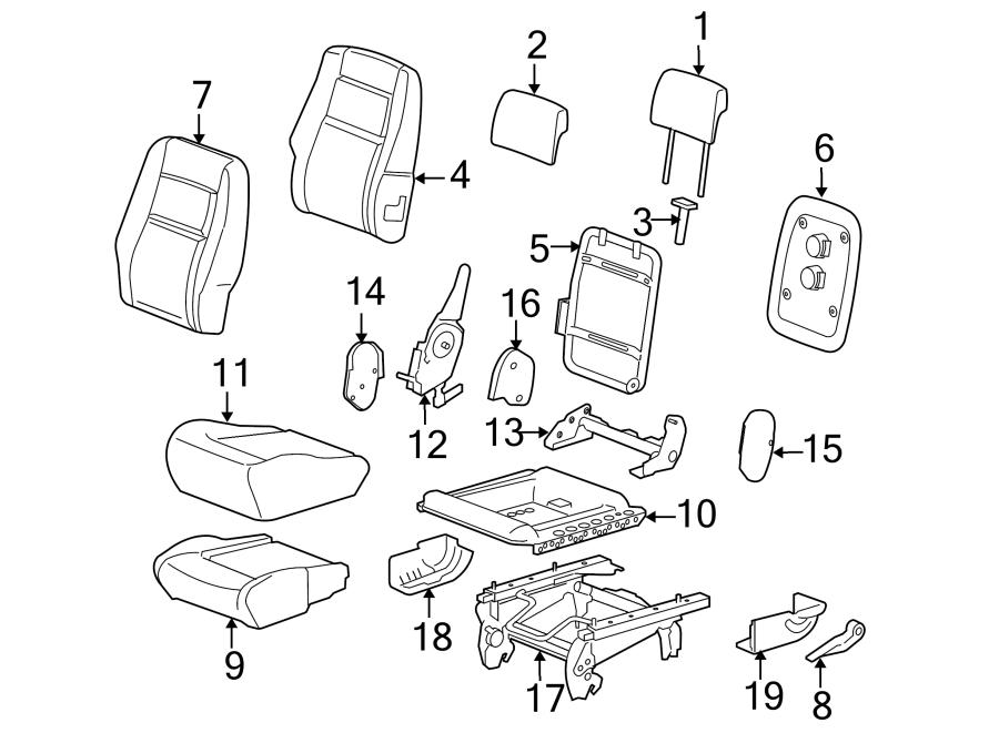 89046353     Pontiac       Seat    Back Cushion  Rear  Bag  Side
