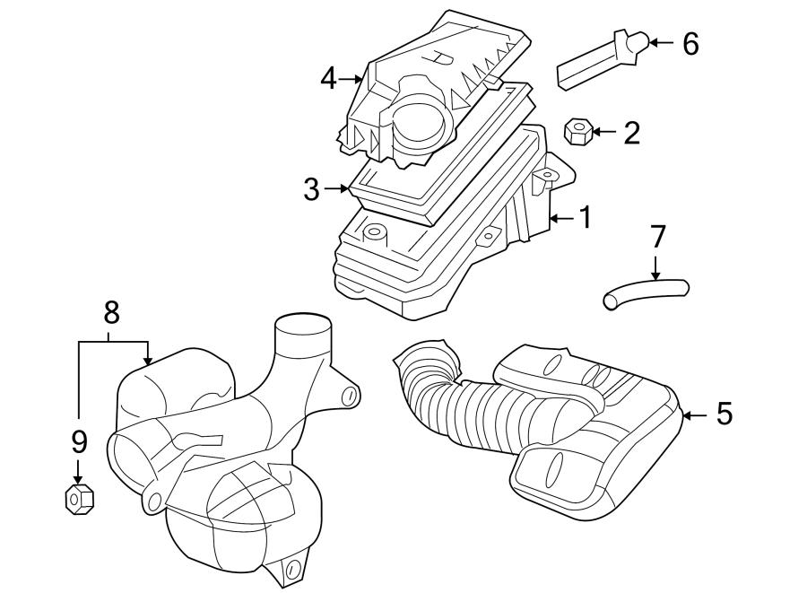 Pontiac G6 Duct  Air  Intake  Resonator  Engine  2 4 Liter