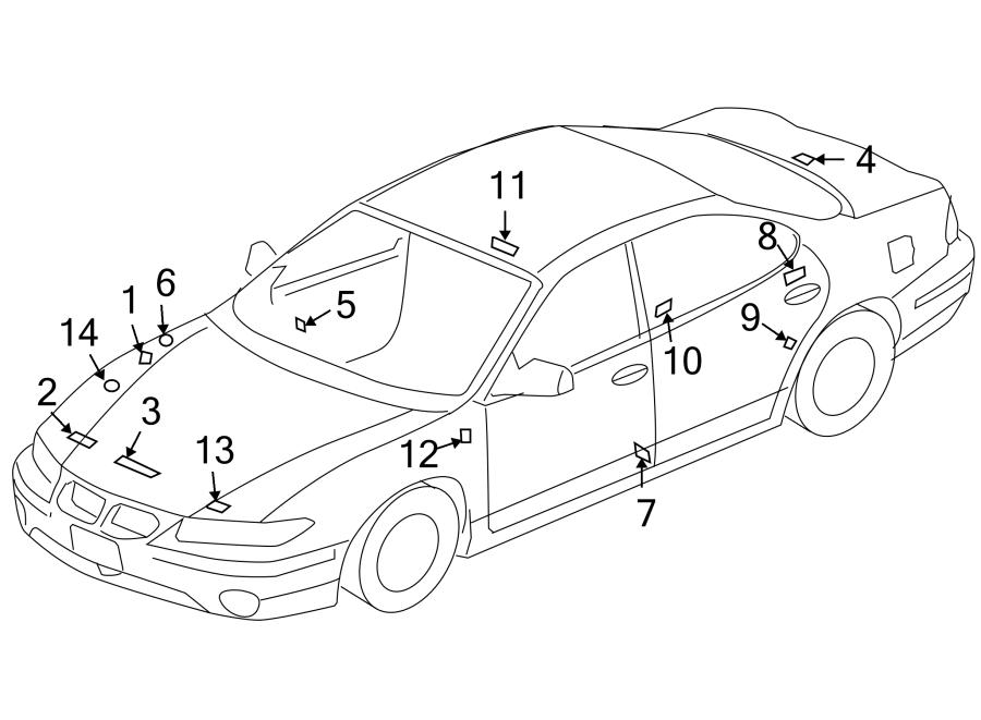 Pontiac Sunbird Label  Caution  Jacket  Engine Decal  Info