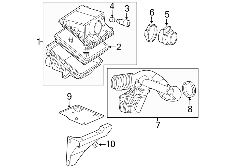 Chevrolet Suburban 2500 Engine Air Intake Hose Seal  4 8