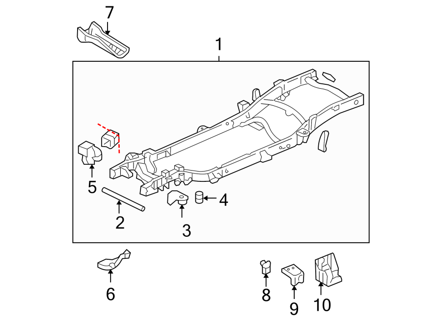 Chevrolet Suburban 2500 Bumper Face Bar Bracket  Rear