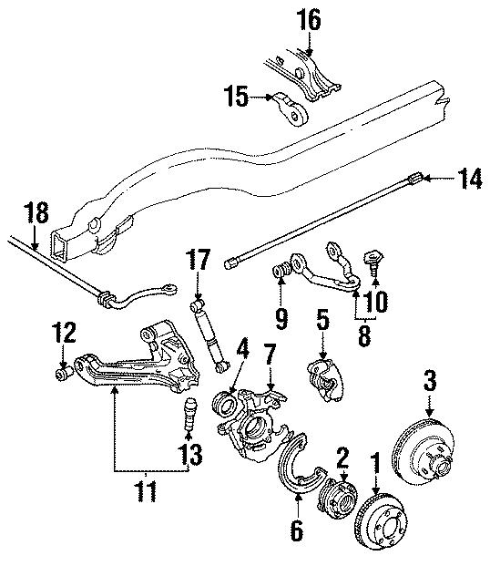 1992 Gmc K2500 Suburban Torsion Bar  Btorsion