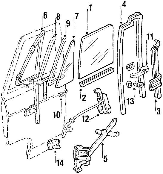 15969083 - Chevrolet Door Handle  Handle