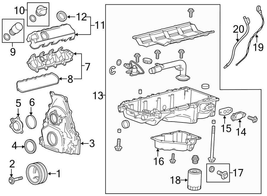 GMC Yukon Gasket. Oil. Seal. Engine. Cooler. Pan. Adapter ...