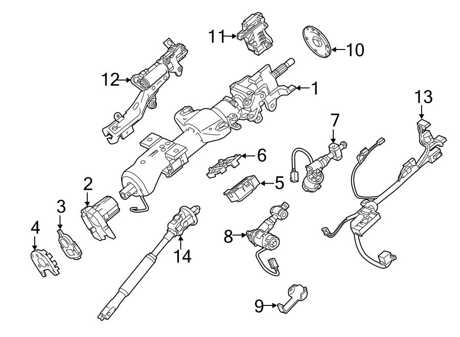 Chevrolet Tahoe Steering Column Control Module Bracket  W