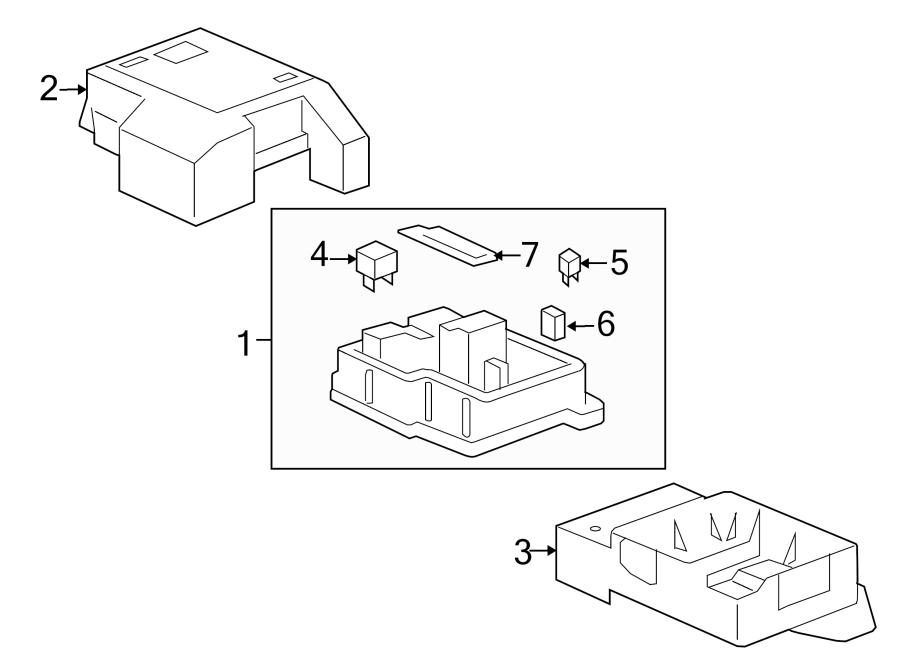 gmc yukon fuse box bracket  junction block bracket  mount