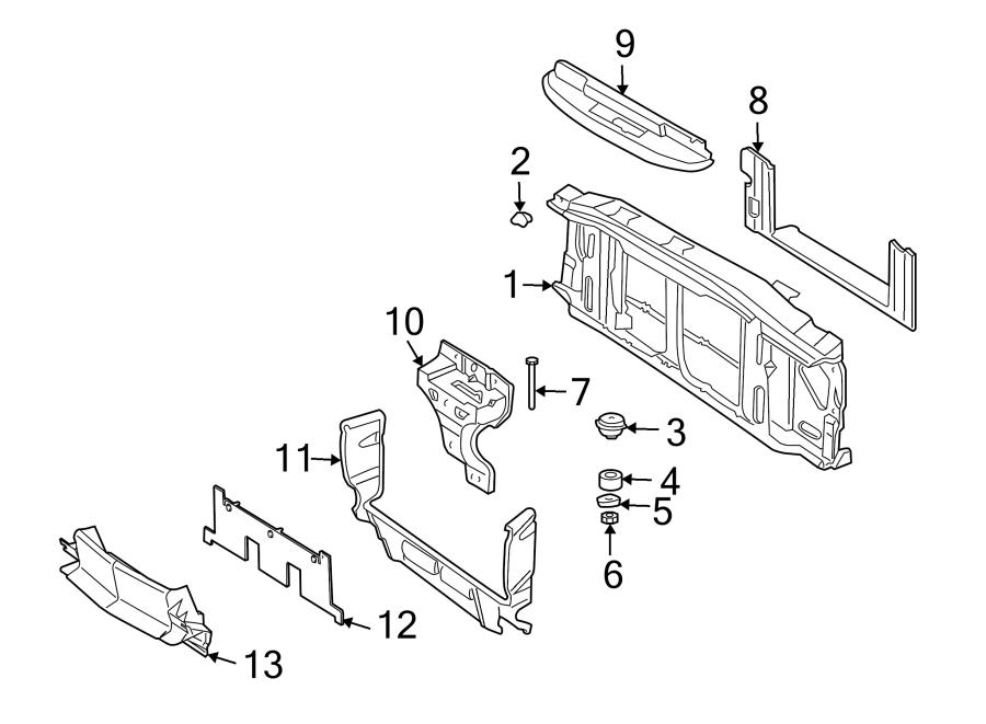 Oldsmobile Bravada Radiator Support Panel Bolt  Motors