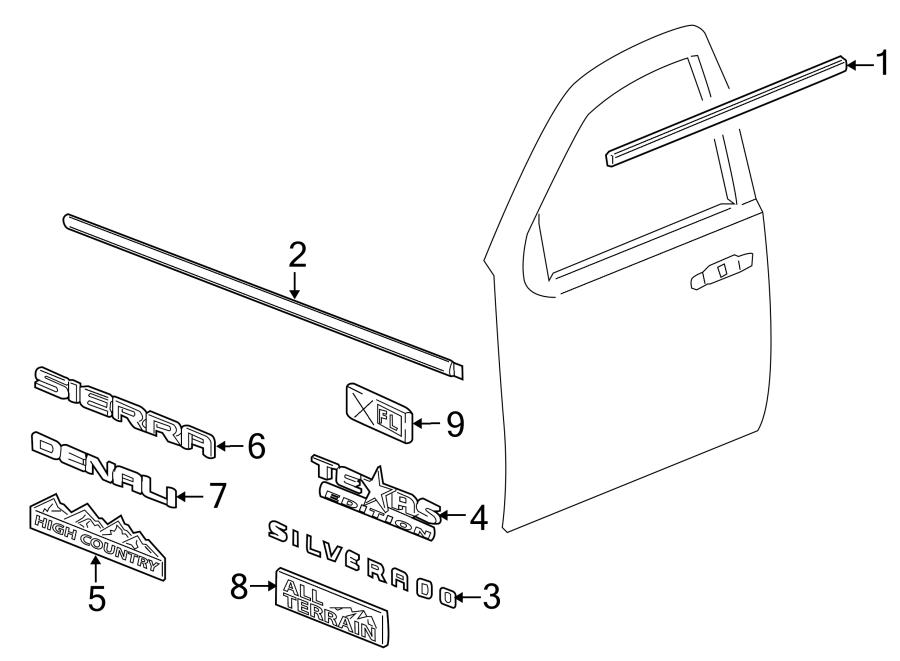 2016 chevrolet emblem  decal  door  nameplate  z71  front