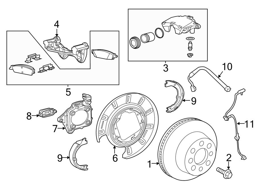 22775567  GMC Anchor Brake Plate Dust Shield Bracket