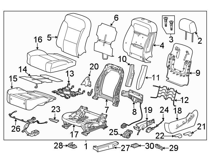 Chevrolet Silverado 3500 Hd Power Seat Wiring Harness
