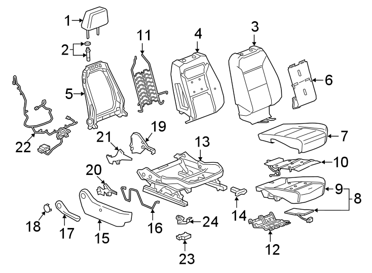 Chevrolet Silverado 2500 Hd Air Bag Wiring Harness  Power