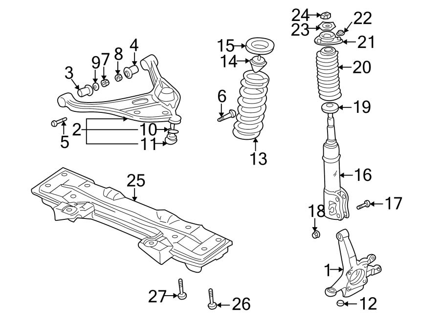 Chevrolet Tracker Suspension Subframe Crossmember  Front