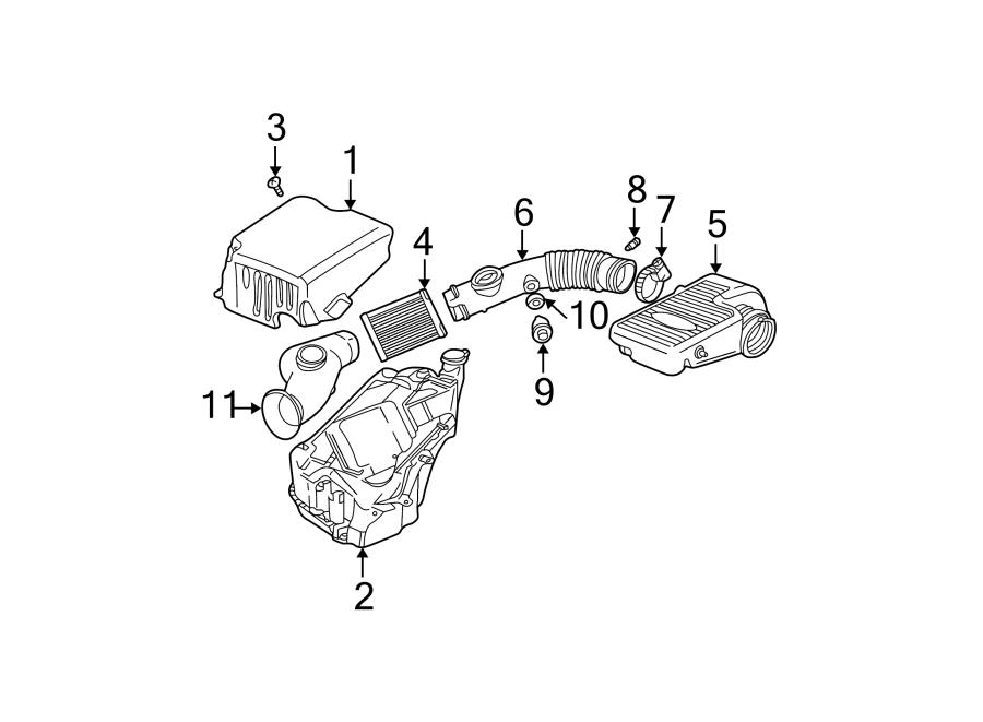 2002 Chevrolet Trailblazer Ext Engine Air Intake Resonator