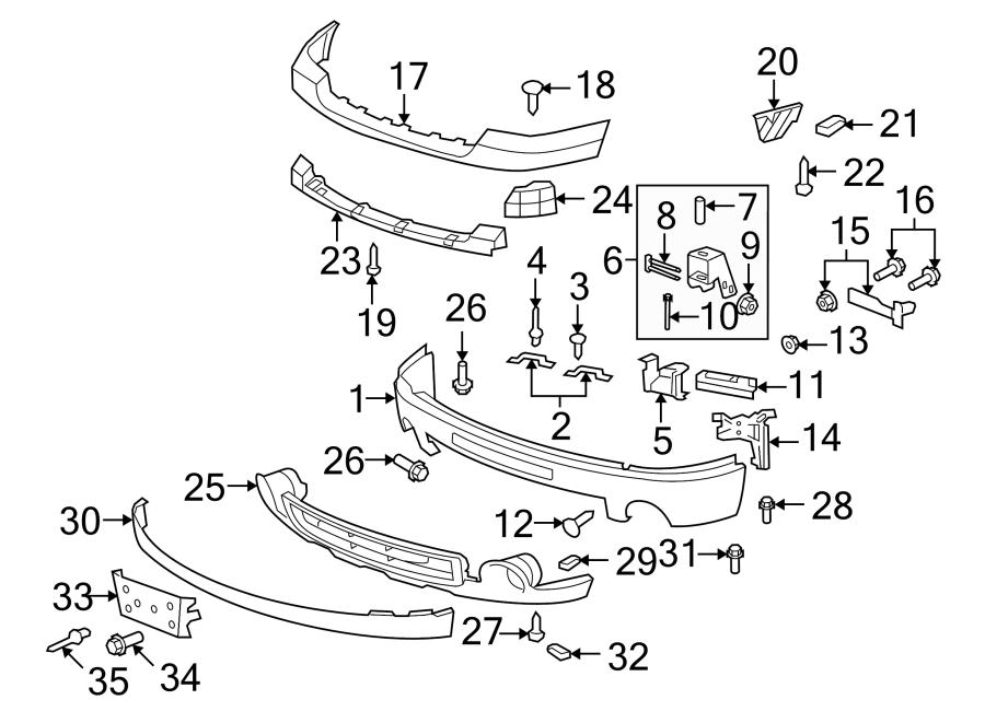 15781553  O Denali  Front  Bumper