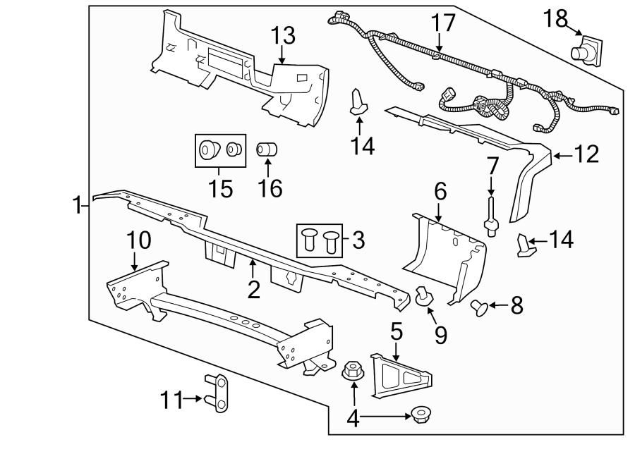 2010 Chevrolet Silverado 1500 Harness   Rear   Bumper  Sensor  Reverse