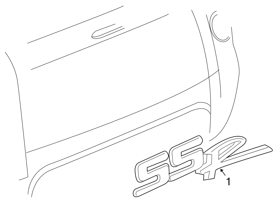 Chevrolet Ssr Tailgate Emblem  Ss  Ssr