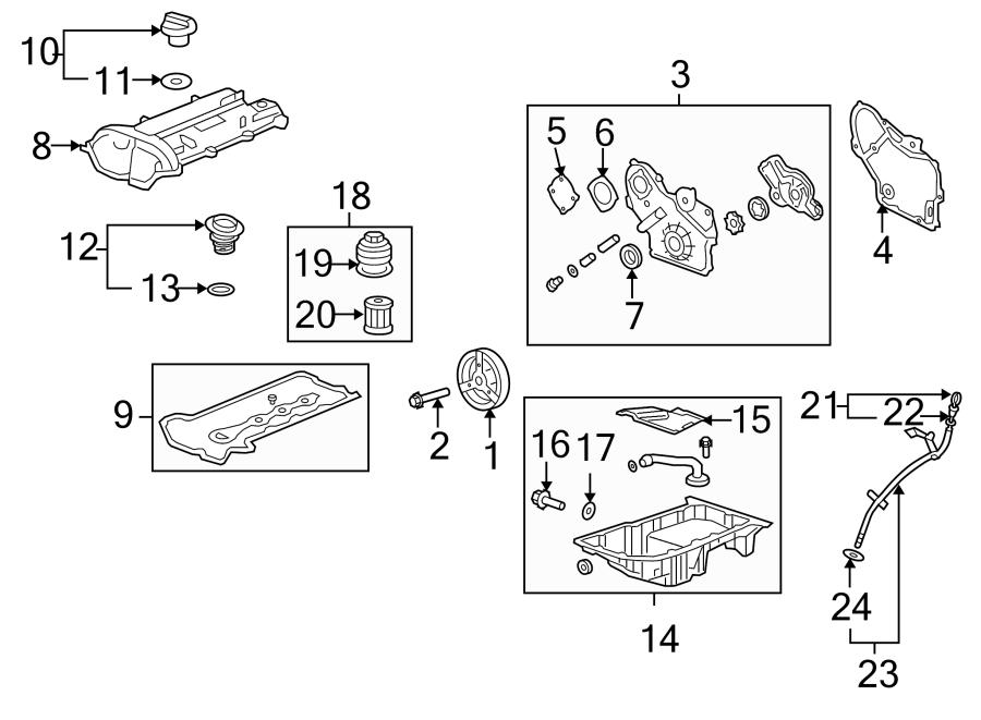 Chevrolet Equinox Gasket  Cover  Valve  Kit  Liter  Engine  Bearings