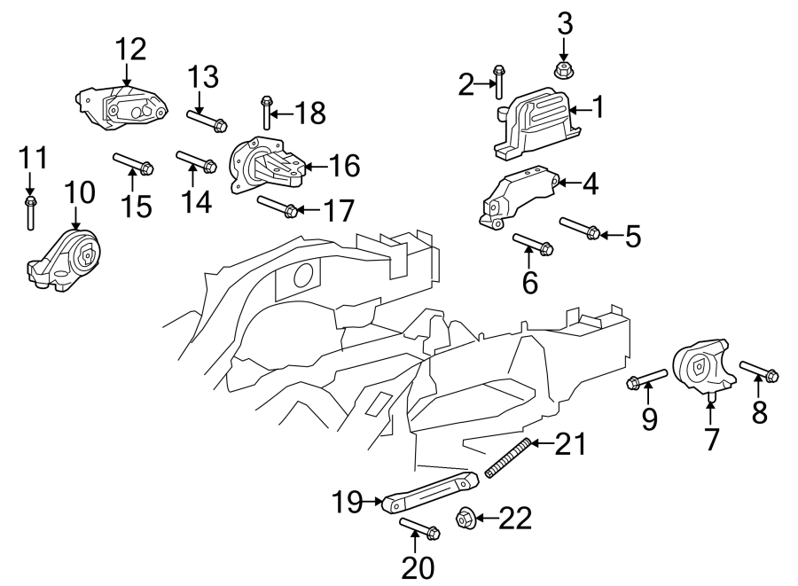 Chevrolet Equinox Automatic Transmission Mount  Engine  Liter  Mounting