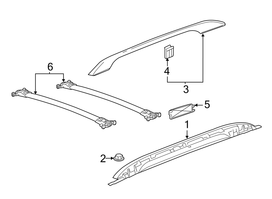 Chevrolet Equinox Roof Luggage Carrier Side Rail