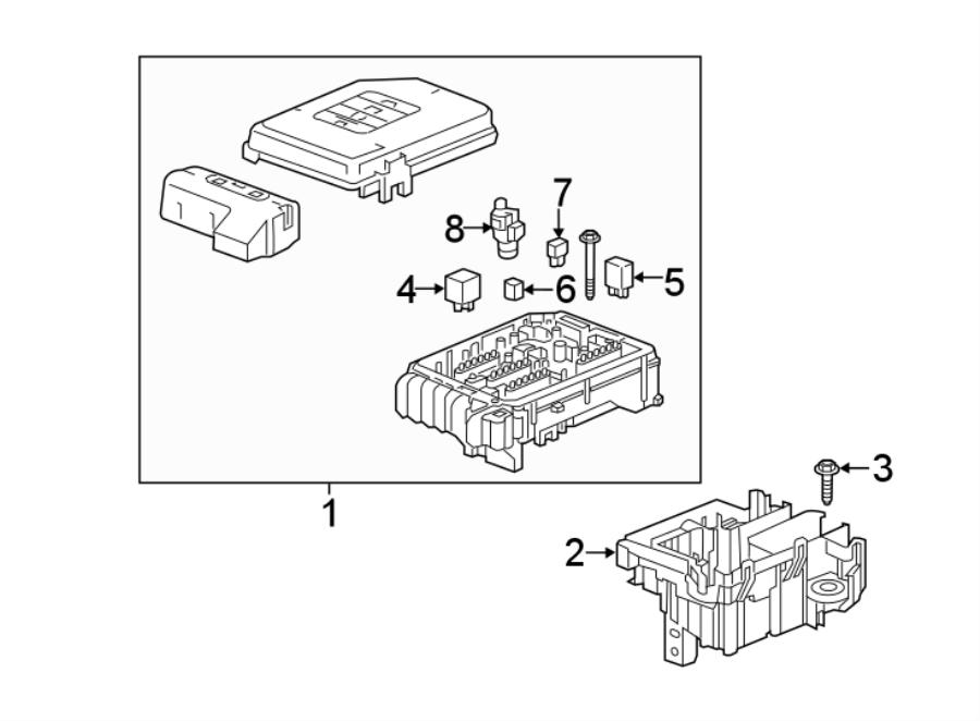 Chevrolet Equinox Fuse And Relay Center Bracket  Engine