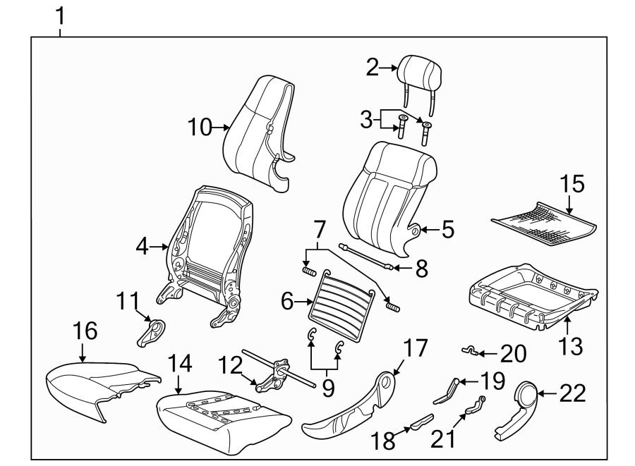Saturn Ls2 Headrest Guide  Seat  Black  Driver