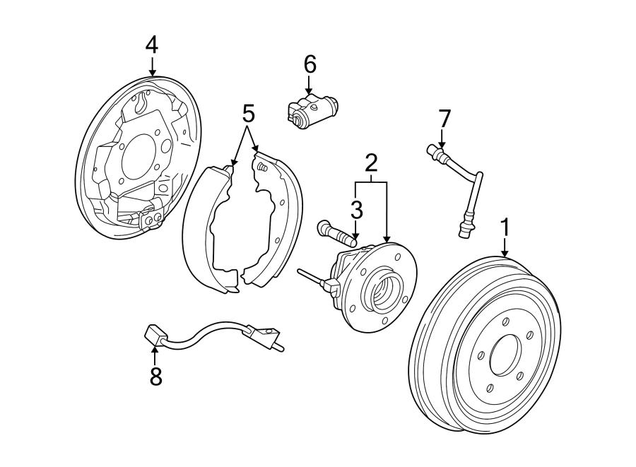2005 saturn vue drum brake shoe rear wheel drive. Black Bedroom Furniture Sets. Home Design Ideas