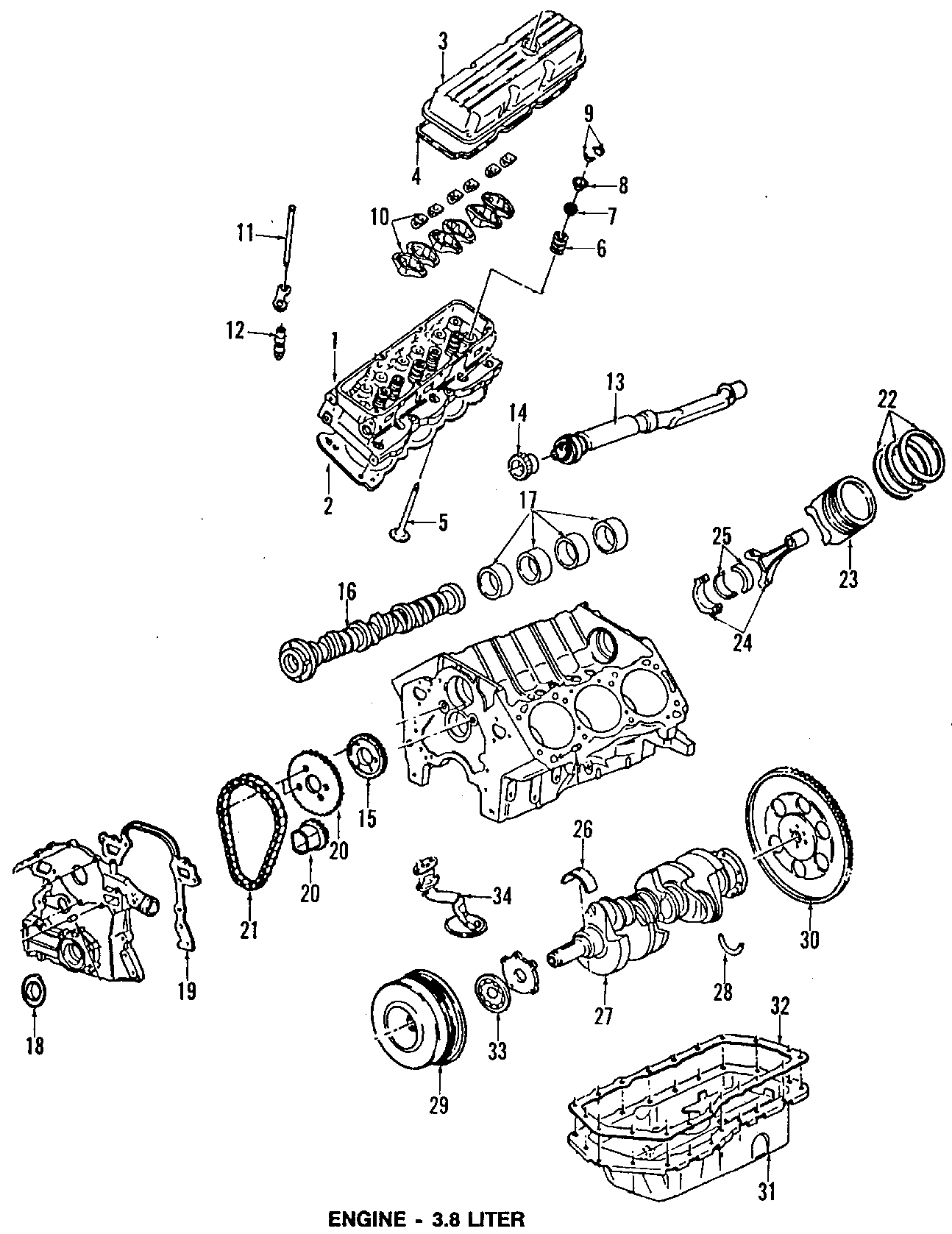1995 Pontiac Bonneville Mount  Transmission  Strut   Rear