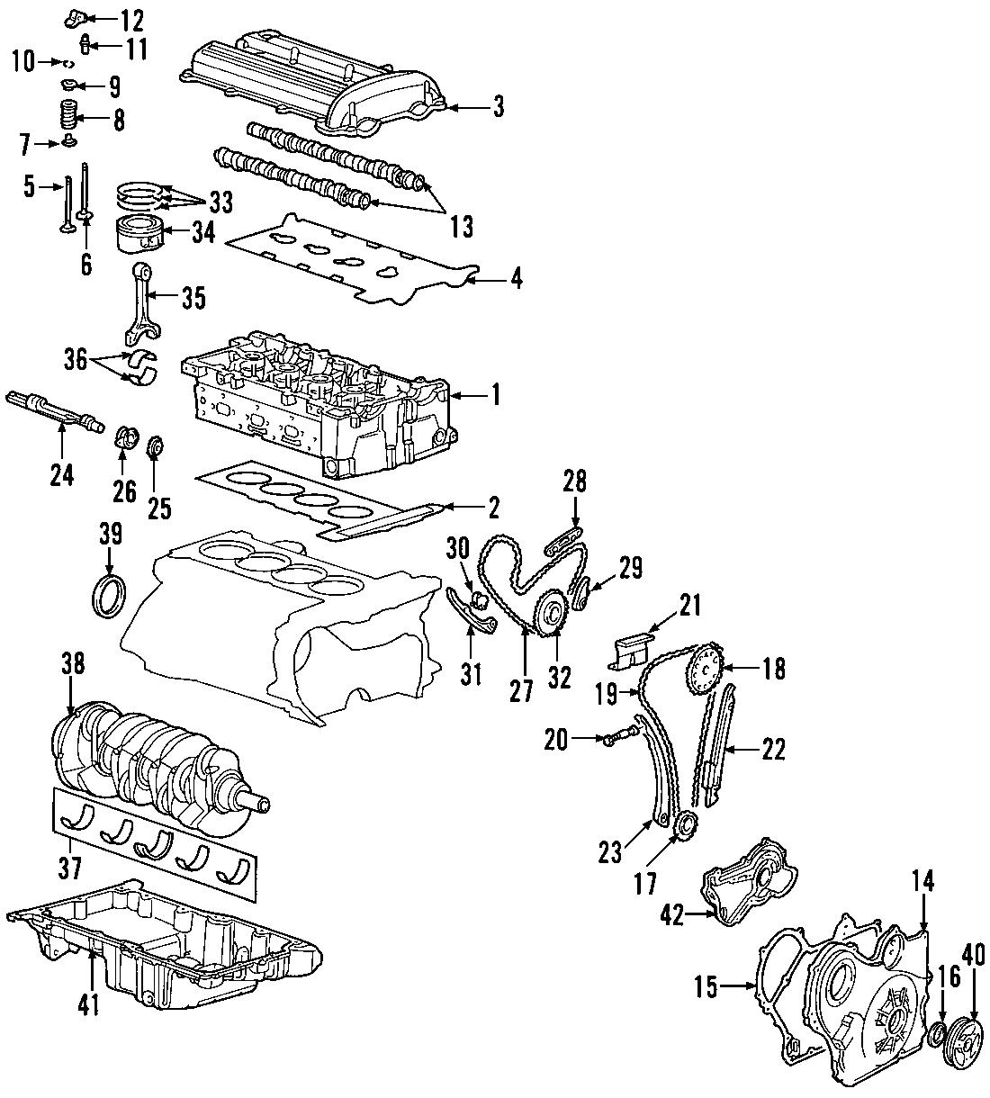 Pontiac G5 Engine Cylinder Head Gasket Set  G5  2 2l  Ion