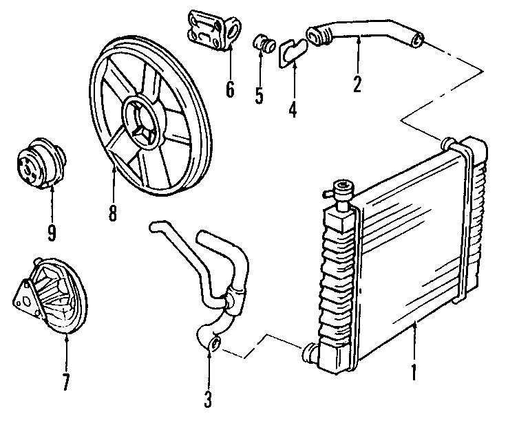 Pontiac Sunfire Thermostat. Engine. Pipe. Coolant. LITER ...