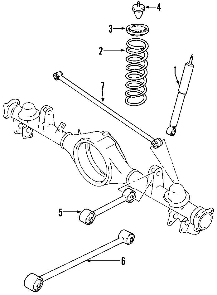 2007 gmc envoy suspension track bar  rear   control  level  auto