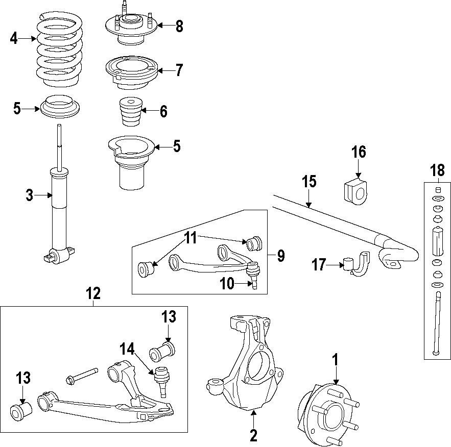 Gmc Sierra 1500 Suspension Control Arm  Front  Upper