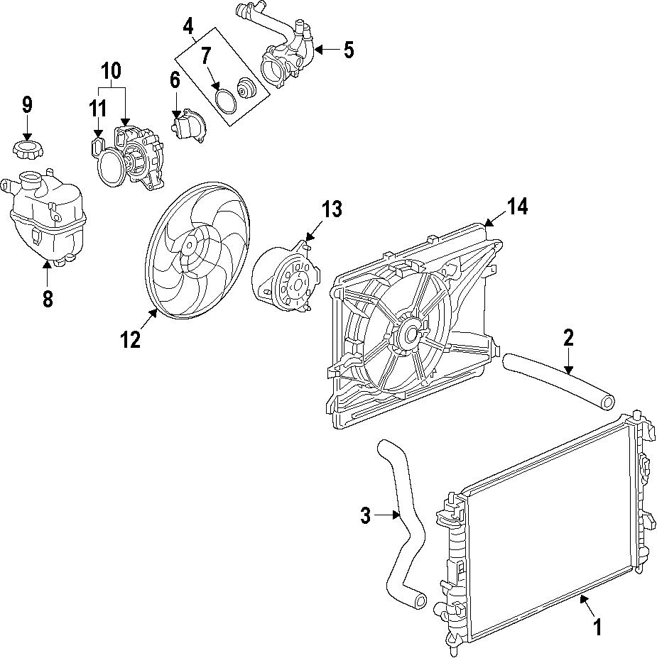 Saturn Vue Engine Cooling Fan Blade  2 4 Liter  Captiva